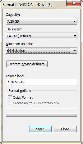fix proteção contra gravação em USB