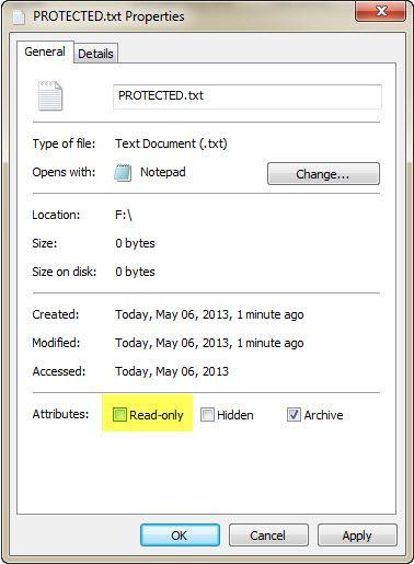 corrigir proteção contra gravação drive USB