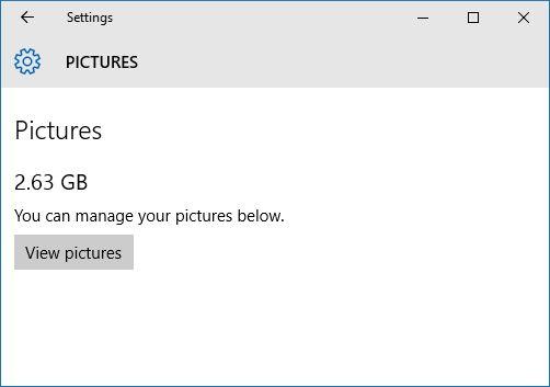 Windows 10 gerenciar imagens