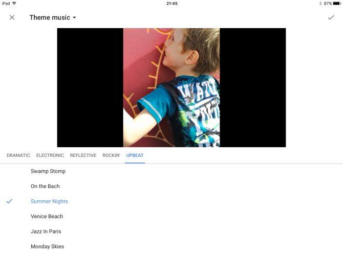 google fotos ios música