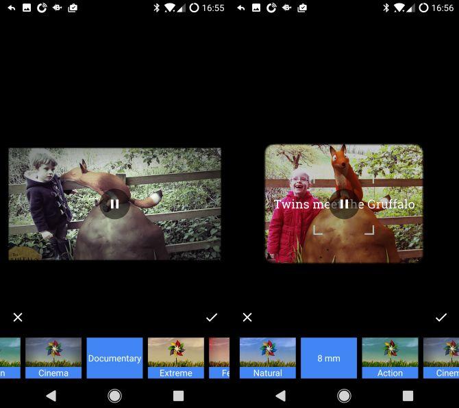 Google estilos fotos android