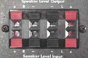 de nível de coluna em um amplificador