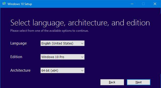 Arquivos do Windows 10 Setup