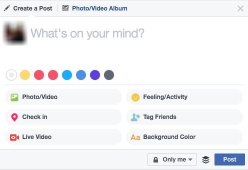 facebook nova mensagem