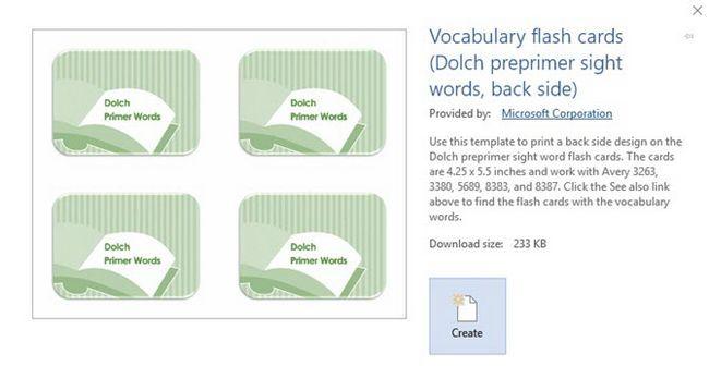 Índice de vocabulário Cartões