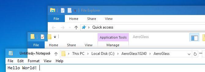 aero no Windows 10
