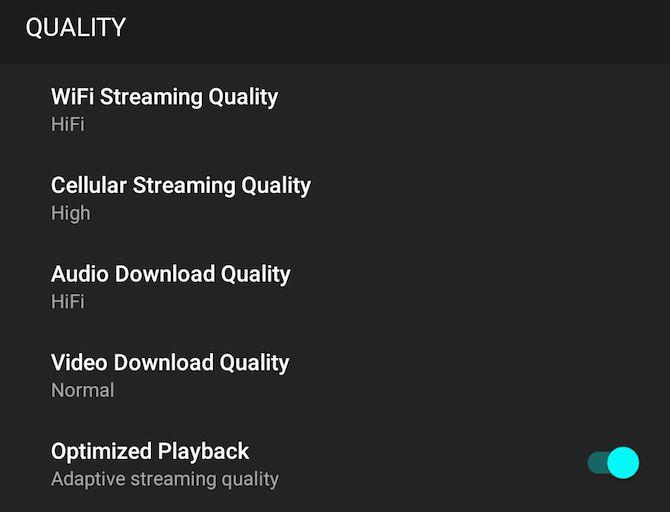 música de qualidade de streaming de maré