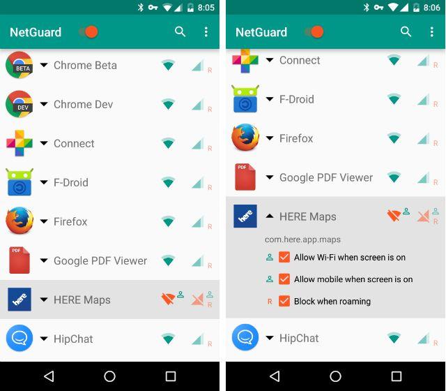AndroidBlockAppsInternet-netguard-Exceções