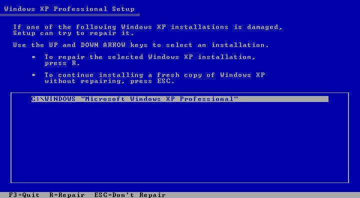 como reparar windows xp