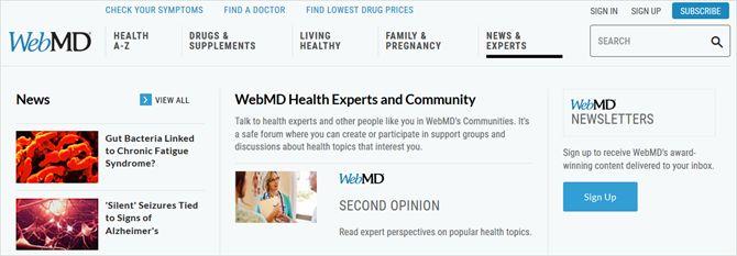especialistas em saúde WebMD