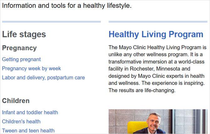 mayo artigos clínica web