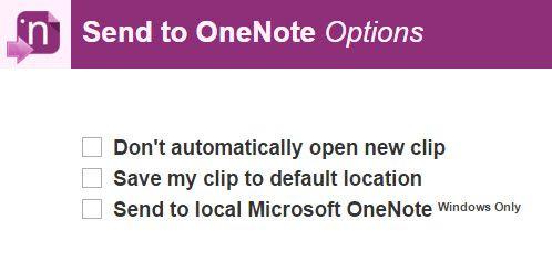 Enviar a extensão OneNote Chrome