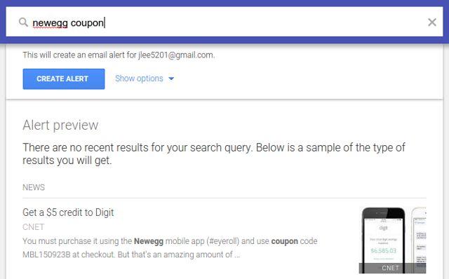 economizar dinheiro alertas em google-passo-2