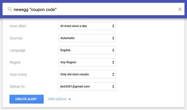economizar dinheiro alertas em google-passo-3