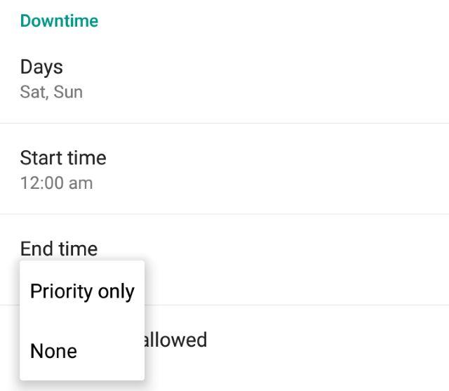 O tempo de inatividade-priority-mode