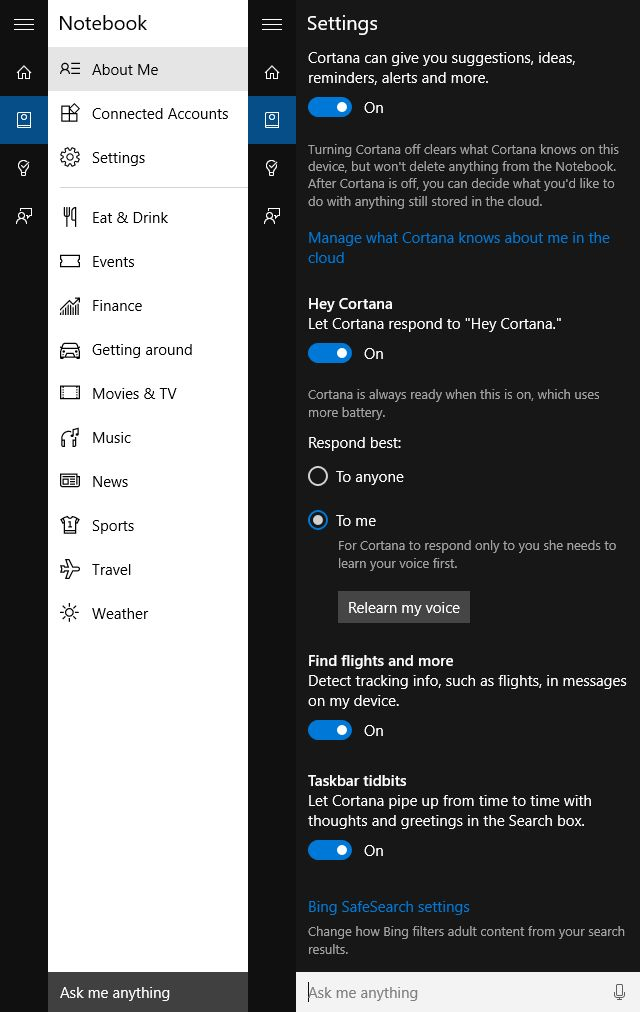MUO-Windows-Windows 10-cortana-setup-configurações
