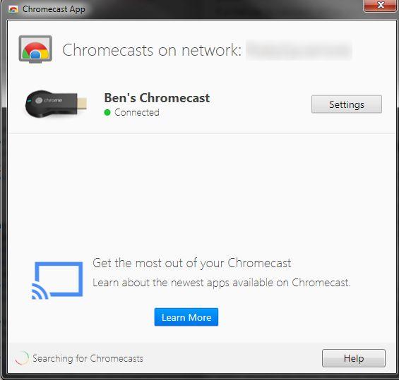 Chromecasts-PC-Configurações