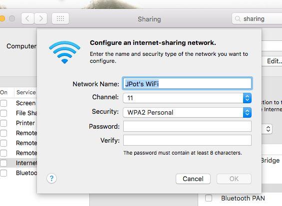 mac-ethernet-compartilhamento-wi-fi por senha