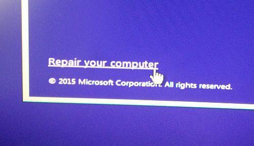 Windows 10 Reparar o computador