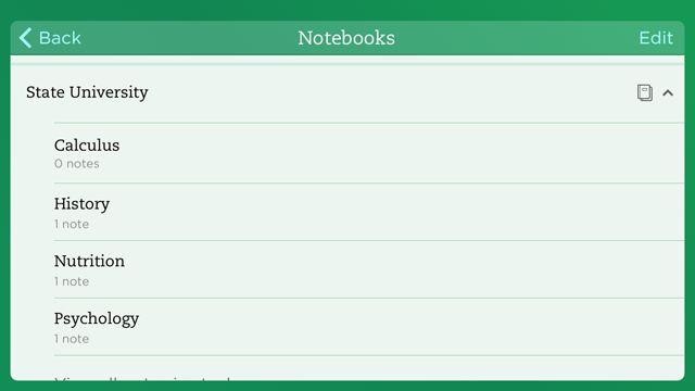 EvernoteiPhoneSchoolNotebooks