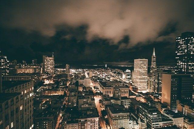 noite-céu da cidade