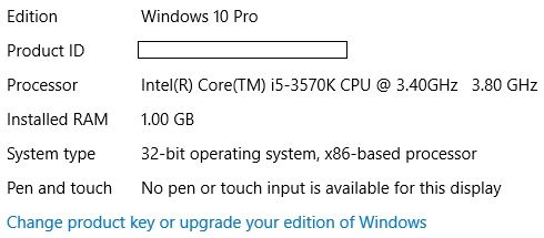 Windows Tipo 10 System