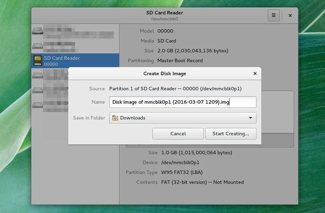 LinuxManageSDCards gnome-discos-partição-Imagem