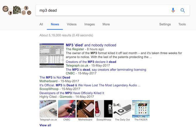 mp3 google mortos notícias