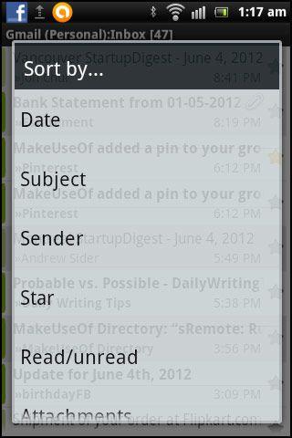 cliente de email android