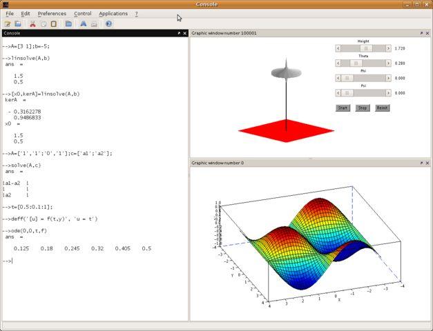 -Linux-win-matemática scilab