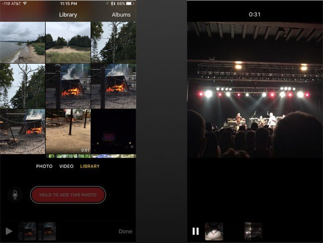 clips de foto e vídeo