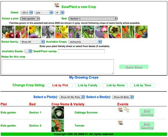 planejador horta