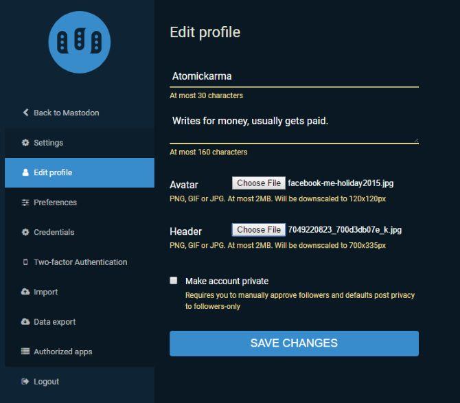 perfil mastodonte rede social