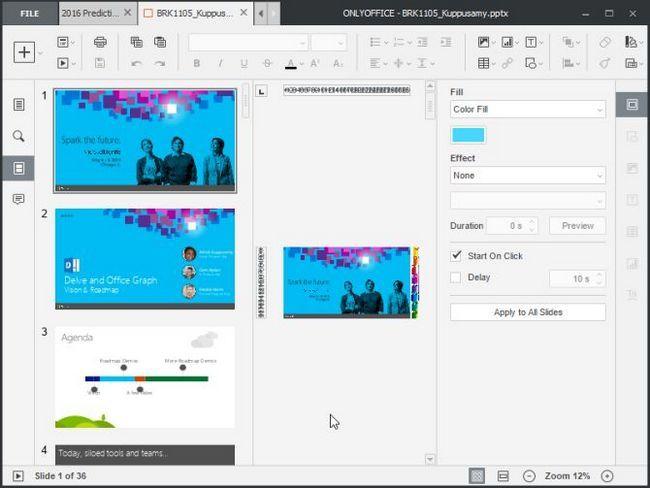 editor de apresentações teamlab