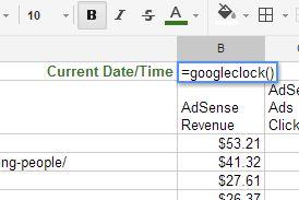 funções de folha de cálculo do Google