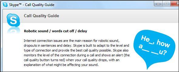 O Skype não funciona