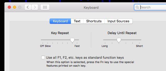 system-preferências do teclado
