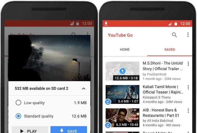 guardar dados móvel youtube ir