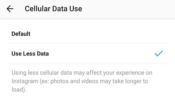 salvar instagram de dados móveis