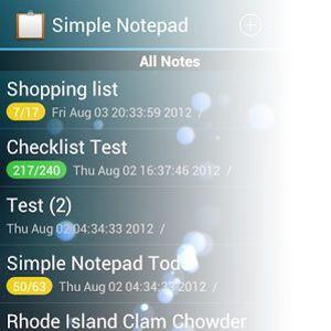 Seguro e realmente simples anotações com simples bloco de notas [android 2.2 +]