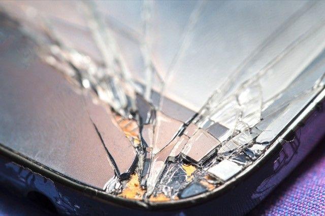 -Tela quebrada smartphone