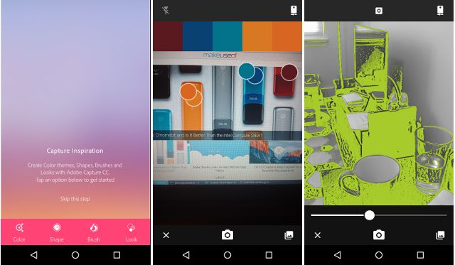 android-creative-nuvem de captura