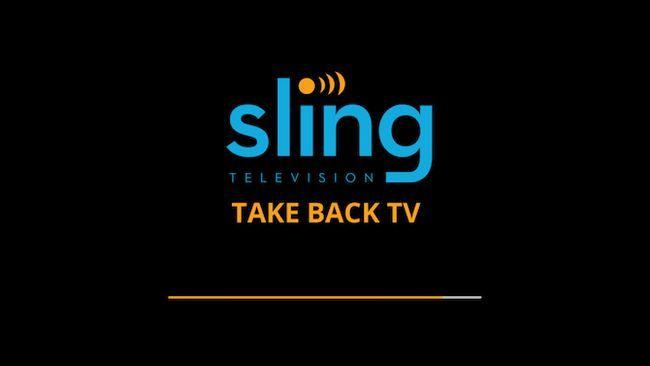 tela de carregamento TV Sling