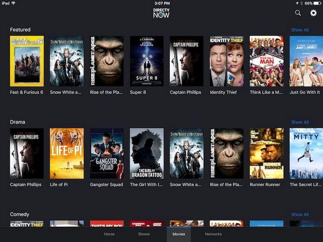 DirecTV exemplo catálogo