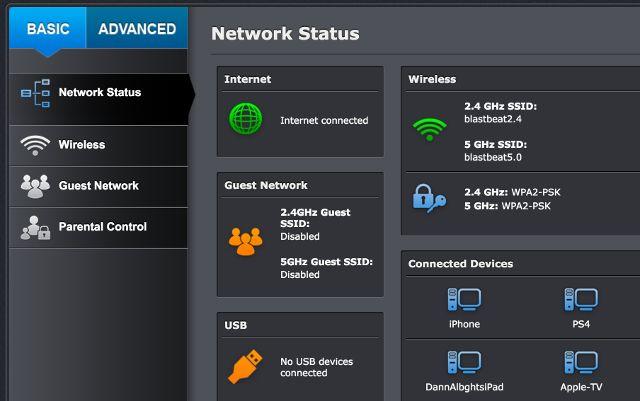router-configurações