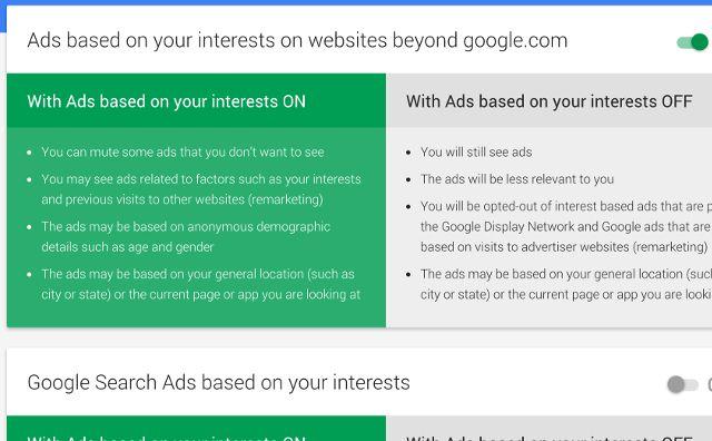 google-anúncios-configurações