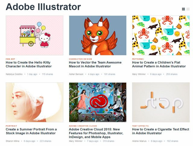 Tuts +: Illustrator Aprendizagem