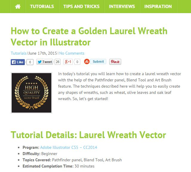 VecTips: Aprendizagem do Illustrator