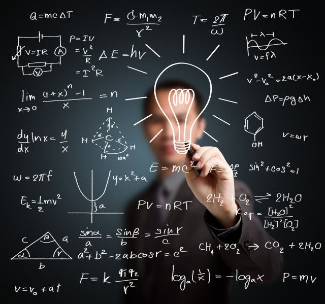 Homem de matemática inteligente