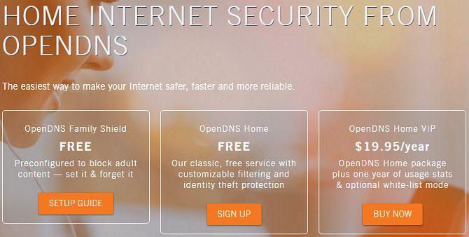 OpenDNS controlos parentais